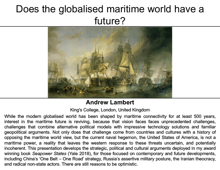 Does the Globalised Maritime World have a Future?